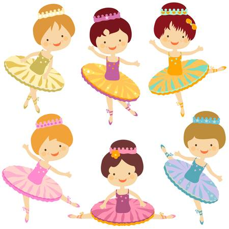 girly: little ballerina set