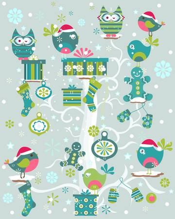 christmas tree with advent calender  Stock Vector - 17476367