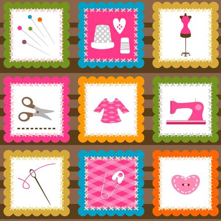 couture:  sewing elements background