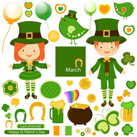 st patrick day: kids celebrating st patrick s day