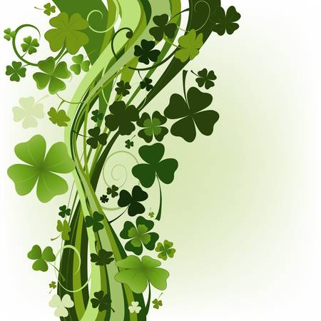 three leafed: design for St  Patrick Illustration