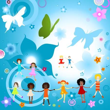 happy kids Stock Vector - 17476370