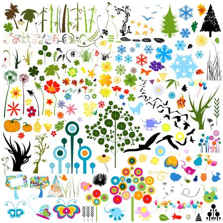 collection of various nature elements Stock Vector - 17476499