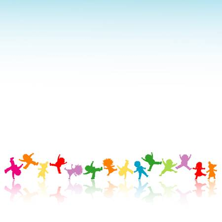 jumping kids: happy kids