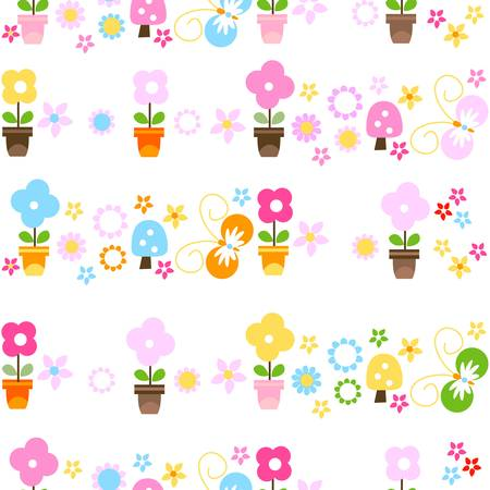 colorful seamless background for kids Vector