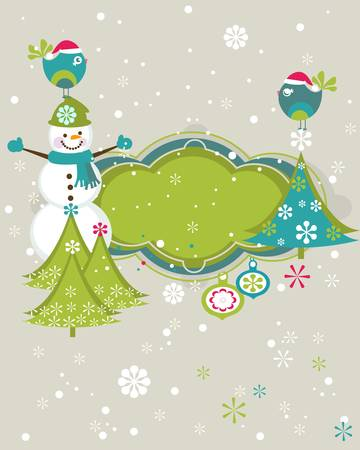 christmas and new year greeting card Stock Vector - 17659864