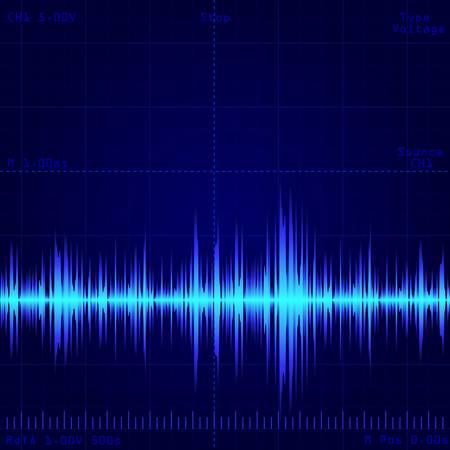 schermo dell'oscilloscopio che mostra il segnale dell'onda