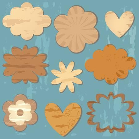 love cloud: vintage style textured design elements for scrapbook