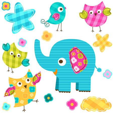 pink elephant: cute happy animals