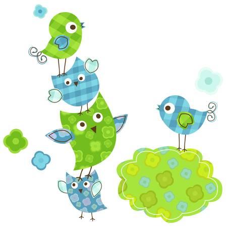 oiseaux mignons heureux pour le bébé