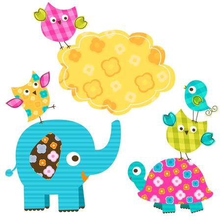 cute happy animals Stock Vector - 18004316