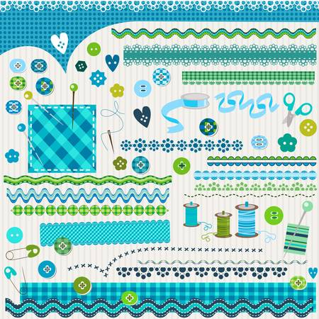 cute textured design elements