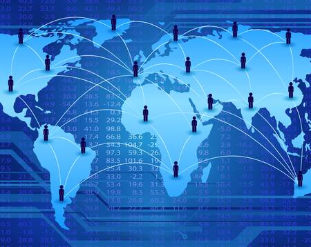 global communication network connecting people worldwide