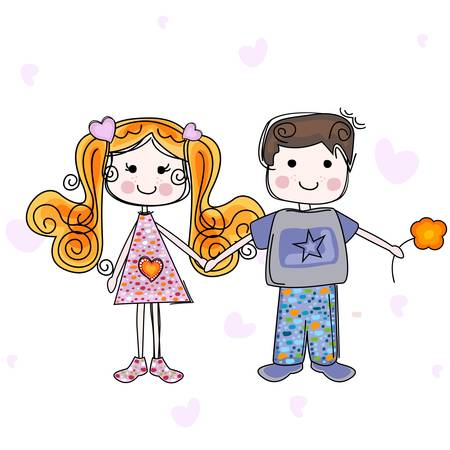 girl and boy Stock Vector - 18083854