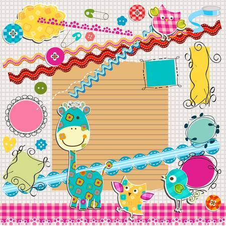 scrapbook kit  Vector