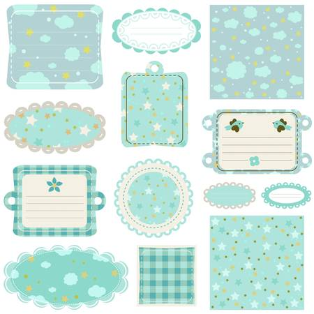 baby scrapbook: design elements for baby scrapbook