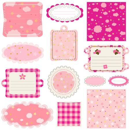 sweet baby girl: design elements for baby scrapbook