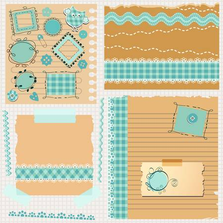 baby scrapbook: scrapbook kit with cute elements