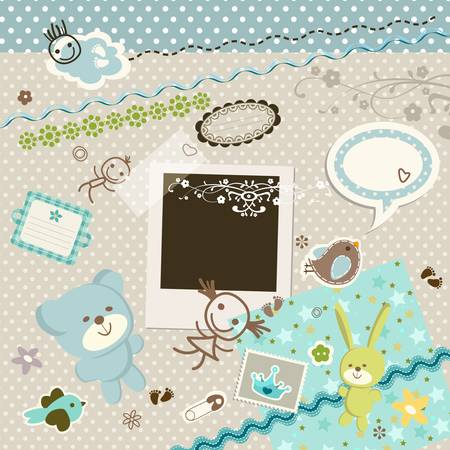 baby background Stock Vector - 18626837