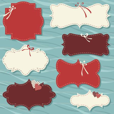 vintage labels set for christmas or winter gifts Vector