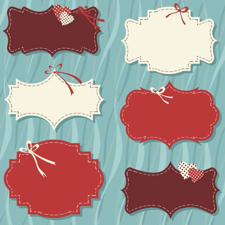 vintage labels set for christmas or winter gifts Stock Vector - 18626813