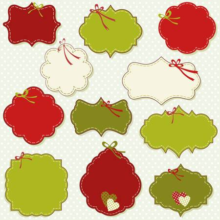 vintage labels set for christmas or winter gifts Stock Vector - 18723127