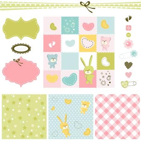 Design-Elemente für Baby scrapbook