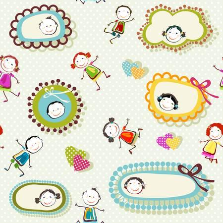 bunten Hintergrund mit glücklichen Kindern spielen