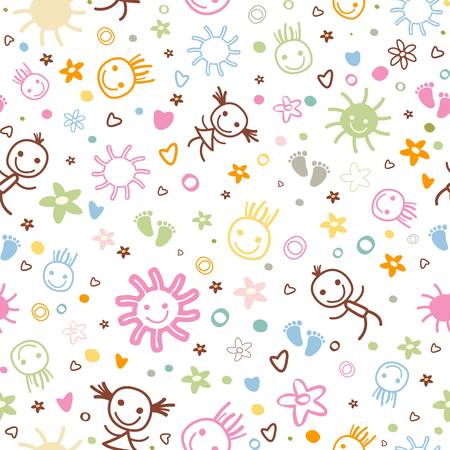 baby seamless pattern with cute elements Stock Vector - 18974394