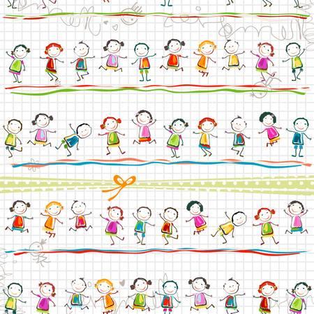glückliche Kinder spielen Vektorgrafik