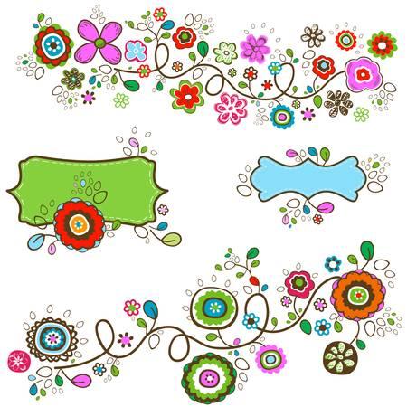 summer flowers design illustration