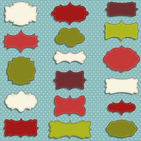 balise: vintage labels �tablis pour No�l ou des cadeaux d'hiver