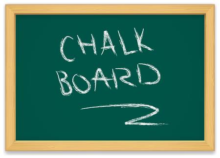 green chalk board with wooden frame
