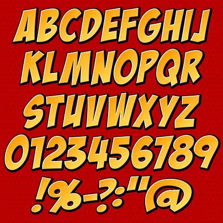 comics style alphabet collection set Stock Vector - 20753010