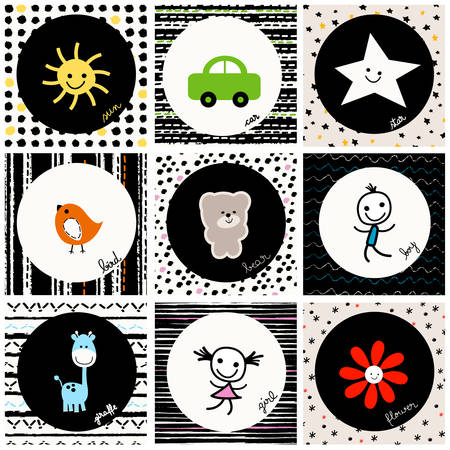 black and white baby pattern