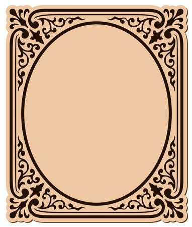 ovals: decorative frame with swirls  surrounding an oval shape