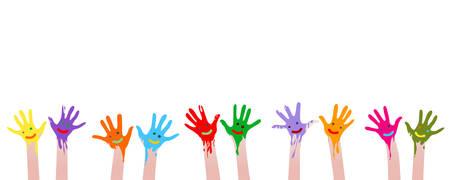 manos sucias: manos coloridas