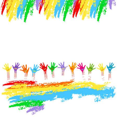 manos coloridas
