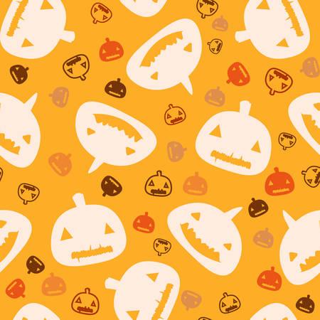 halloween seamless pattern, pumpkin background