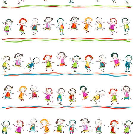 幸せな子供のプレー グループ