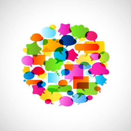 transparencies: colorful bubbles speech, no transparencies
