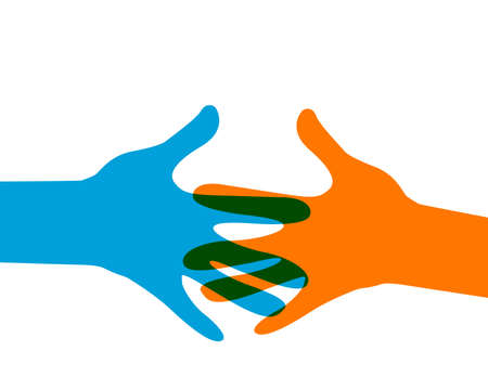 hands out: hands reaching out Illustration