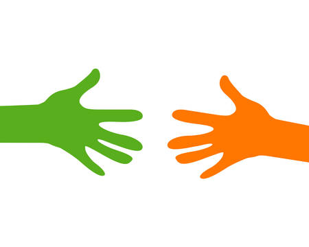 hands reaching out Illustration