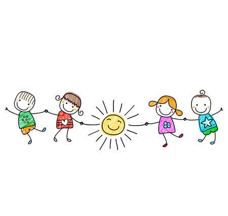 Enfants heureux de jouer Banque d'images - 39018671