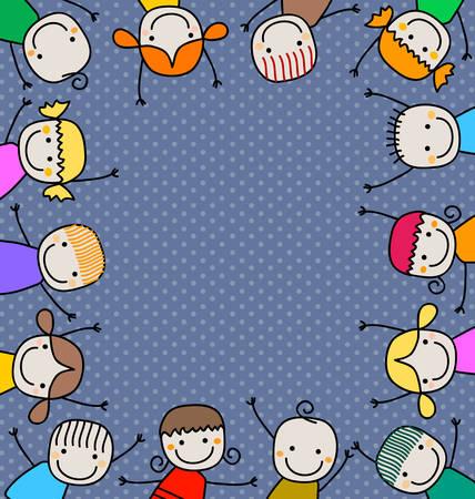 fabric art: happy kids