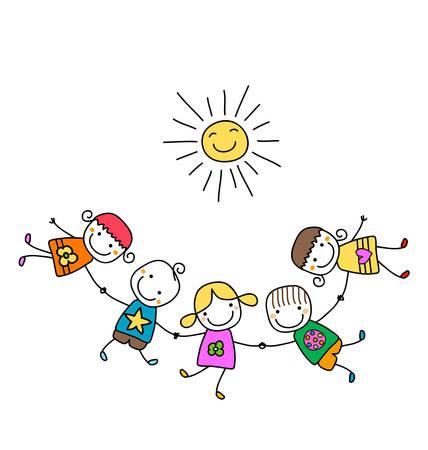 Enfants heureux de jouer Banque d'images - 39018689