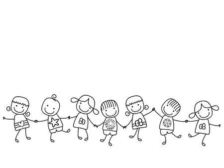 Enfants heureux de jouer Banque d'images - 39262805