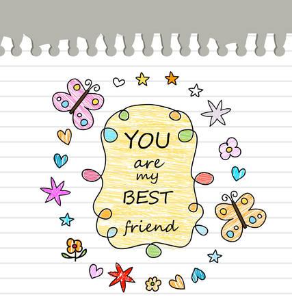 mejores amigas: mejor dibujo amigo