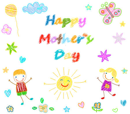 day nursery: happy mother`s day card Illustration