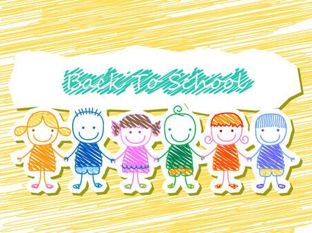 group of kids, back to school Illustration